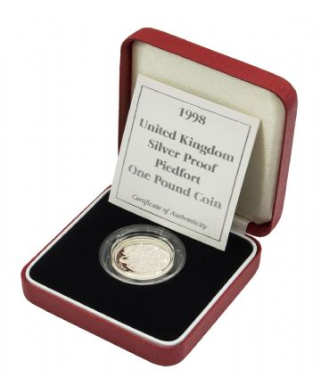 1998 Silver Proof Piedfort One Pound